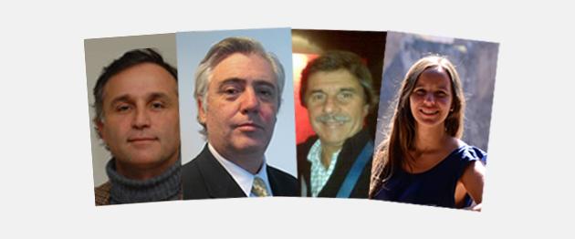 José Paz Iturralde, director Comercial en Denver Farma; Carlos Cuiñas, director Unidad Quirúrgica en B&L; Jorge Espinosa, gerente de Marketing en Investi; Denise Pereira Amigo, product manager Diabetes en Novo Nordisk.