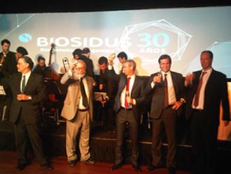 Juan Carlos Bidegaray, director de relaciones institucionales; Marcelo Criscuoro, pilar científico de Biosidus; Santiago García Belmonte, presidente de Biosidus; Roberto Funes, CFO.