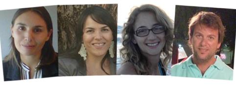 Candelaria Alonso, Novartis ;Marina Arruzazabala, Raffo; Johana Bauer, Biosidus; Diego Montenegro,