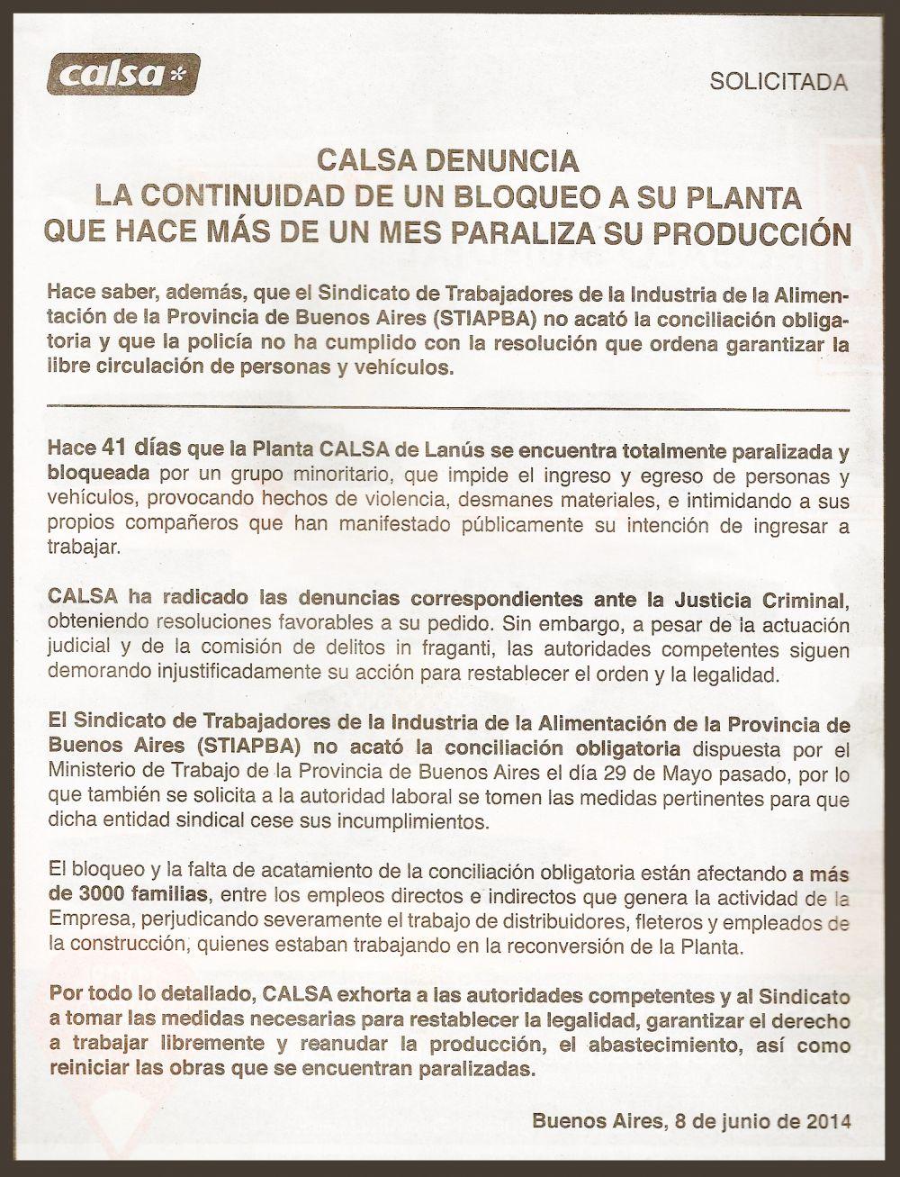 Elisium afectada por CALSA | Pharmabiz
