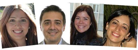 Yanina Larocca, Biomarin; Fernando Arnaiz, Roche; Laura de la Fuente, Novartis; Nadia Schvarzman, Alexion.