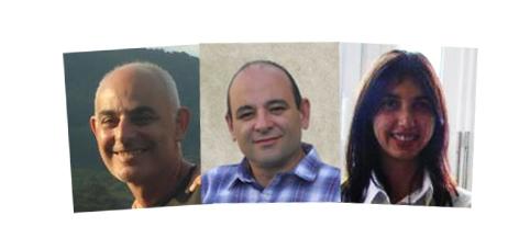 Néstor Annibali, Denver; Karina García, Glenmark; Daniel Bussolotti, Dromex.