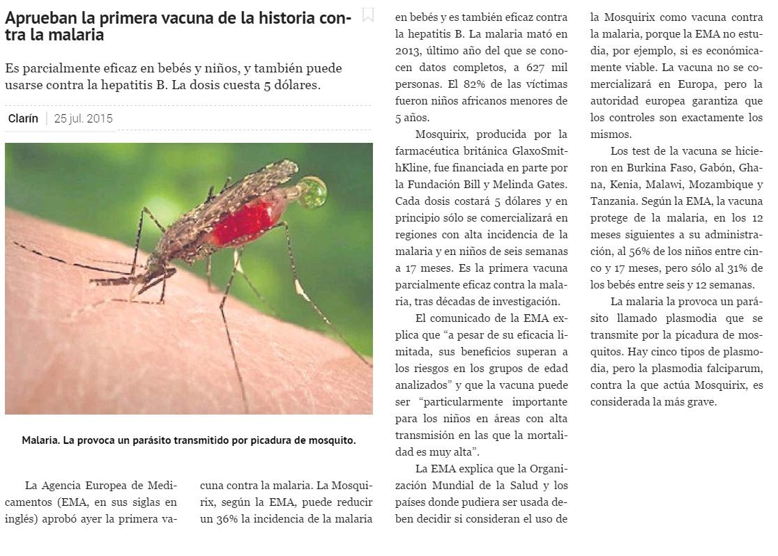 clarinmalaria