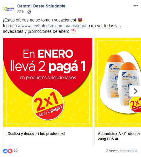 Promociones farmacia central oeste